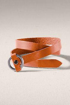 Women's Double Wrap Leather Bracelet from Lands' End Canvas