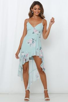Get away with anything in our summery asymmetrical style Honestly Darling Midi Dress! Shop Now And Get Express Shipping Worldwide! Dewy Makeup, Pink Heels, Blush Pink, Hemline, Cold Shoulder Dress, Model, How To Wear, Outfits