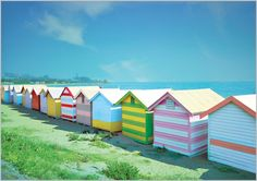 Beach huts - lovely even though they can cost a fortune Cabana, British Beaches, Hut House, Beach Shack, Chula, Beach Cottages, Beach Houses, Little Houses, Coastal Living