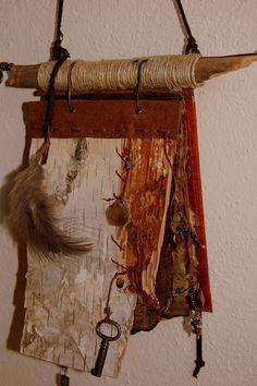 handmade book of resined paper bark by Julie H Boulais