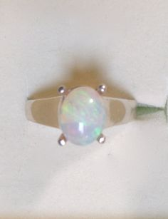 Genuine Opal Ring  Genuine Australian Large Opal by OpalEmbers #opalsaustralia