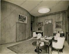 Hôtel particulier de M. Reichenbach, rue Alfred-Dehodencq, Paris 16e : vue int (1929-1932). Architecte: Jean-Charles MOREUX.