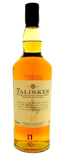Talisker 10 year old (old label) - bring on the ol' peppery malt