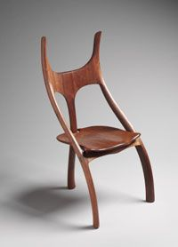 Walnut Side Chair / Alphonse Mattia / 1969