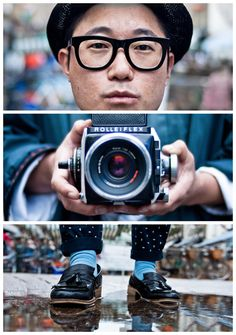 """Triptychs of Strangers is a continuing photographic series by Adde Adesokan, where the goal is to """"meet total strangers – get to know them -take three personality-matching body shots-make them one."""""""