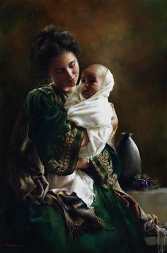 Bearing A Child In Her Arms by Elspeth Young.
