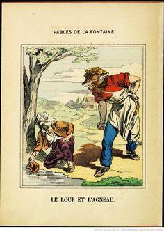 Fables de La Fontaine - Images d'Épinal - Le Loup et l'Agneau - BnF