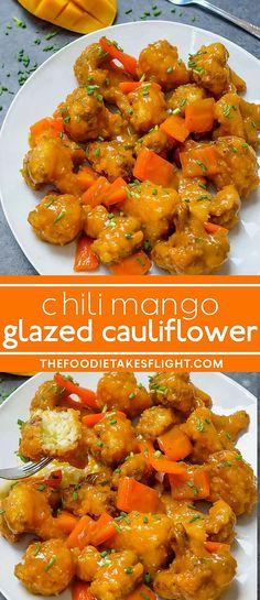 Vegetarian Recipes, Healthy Recipes, Mango Recipes Vegan, Healthy Food, Fish Recipes, Vegetable Recipes, Vegan Food, Food Food, Vegan Cauliflower