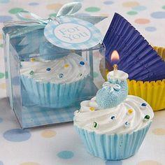 Ice Cream Mini Candle W/Blue