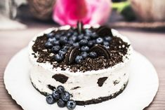 Cheesecake felia de lapte - Retete practice Cheddar, Oreo, Biscuit, Panna Cotta, Cheesecake, Deserts, Ethnic Recipes, Food, Dulce De Leche