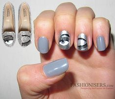 Chiara Ferragni Shoes Inspired Nail Art Designs: Blink Eyes Nails #chiaraferragnishoes #nailart