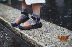 New Ways To Wear Clothes You Were About To Retire #refinery29  http://www.refinery29.com/unexpected-street-style-styling-tips#slide-13  If you get graphic socks for Christmas every year, stop relegating them to the bottom of your intimates drawer; they'll look cool worn under a pair of neutral sandals on a not-quite-warm day....