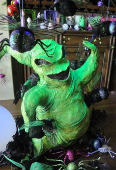 Paper mache creation...the Boogey Man from Nightmare Before Christmas.