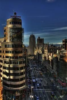 Gran Via (Madrid) by joaquin cuenda #Viajes #España