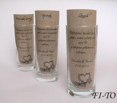 Jmenovky do sklenice 10ks Pint Glass, Beer, Tableware, Weddings, Root Beer, Ale, Dinnerware, Beer Glassware, Tablewares