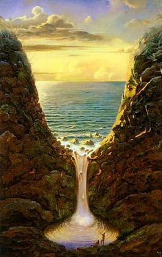Sea Glass Vladimir Kush 1965 \ Russian surrealist painter and sculptor
