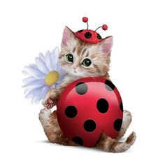 Cute As A Bug Cat Figurine by The Hamilton Collection