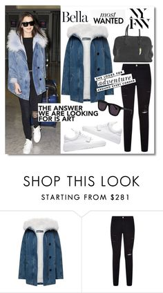 """""""Get the look-Bella Hadid"""" by mackenziefoxy7 ❤ liked on Polyvore featuring Paulie, Frame, Filling Pieces, Karen Walker and Kate Spade"""
