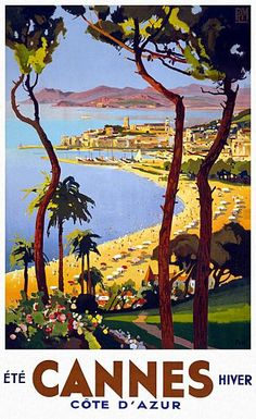 Cannes Summer Winter Gold Coast Travel Poster