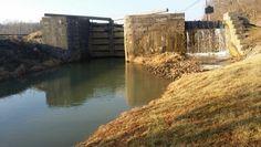Whitewater Canal Lock - Metamora Indiana - January 2015