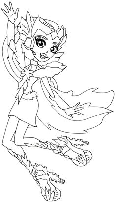 astra nova monster high coloring pages | Batsy+Claro+Monster+High+Coloring+Page.png (773×1600 ...