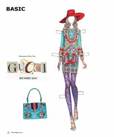 DOLLZ || Fashion Mixed Media Project by Viktorija Pashuta | BASIC Magazine GUCCI Resort 2017