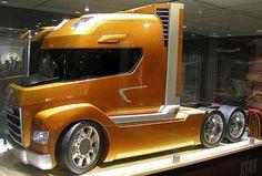 Gotta love that candy paint Big Monster Trucks, Big Rig Trucks, Semi Trucks, Cool Trucks, Pickup Trucks, Cool Cars, Custom Big Rigs, Custom Trucks, Auto Volkswagen