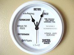 Geek Nerd Clock by LetterThings on Etsy