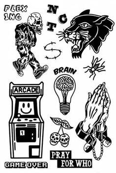 Black Tattoos, Body Art Tattoos, Small Tattoos, Sleeve Tattoos, Leg Tattoos, Tattoo Sketches, Tattoo Drawings, Blackwork, Doodle Tattoo