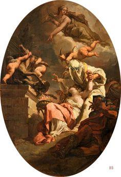 The Sacrifice of Iphigenia. Gaetano Gandolfi. Italian.1734-1802. oil on canvas.