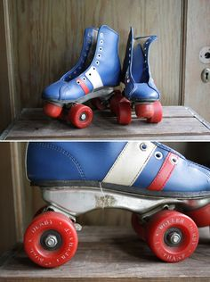 THESE were MY roller skates. I loved loved loved them. You couldn't get me out of them. via the '70's ! ~ Sara