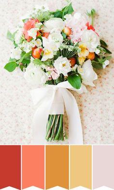 An Organic Shades of Orange Bridal Bouquet | www.onefabday.com