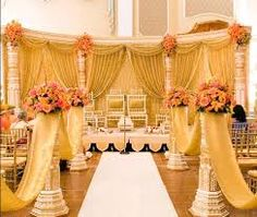 No Indian wedding is complete without the wedding mandap. The wedding mandap is basically a covered four pillared pavilion where the bride . Wedding Ceremony Ideas, Wedding Stage Decorations, Wedding Mandap, Wedding Themes, Wedding Events, Wedding Ceremonies, Ceremony Programs, Wedding Receptions, Reception Ideas