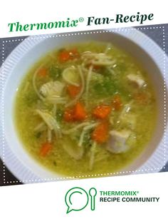 Recipe Chicken Soup by Rosemary Byrne, learn to make this recipe easily in your kitchen machine and discover other Thermomix recipes in Soups. Healthy Chicken Soup, Vegetarian Chicken, Chicken Soup Recipes, Recipe Chicken, Gnocchi Recipes, Wrap Recipes, Paleo Recipes, New Recipes, Cooking Recipes