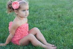 Coral lace ruffle petti by PrettyPetalsHair