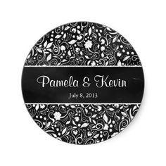 Black & White Floral Chalkboard Sticker #chalk #chalkboard #typography #quote