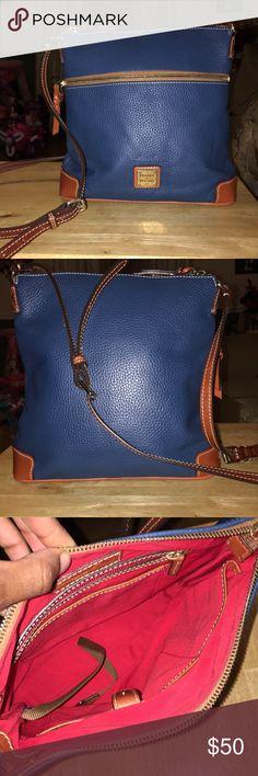 Dooney & Bourke Blue crossbody pebble grain leather *authentic purse purchased at Dillard's* Dooney & Bourke Bags Crossbody Bags