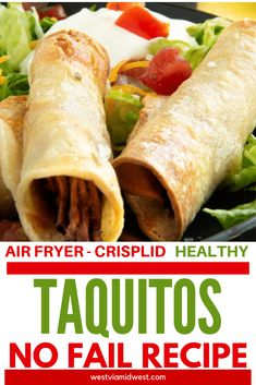 Recipes Air Fryer These air fryer taquitos were so easy and so much better than store-bought. Made them in less than 15 minutes, crispy shell juicy barbacoa meat center. I love that they could be adapted to chicken taquitos easily! Air Fryer Recipes Appetizers, Air Fryer Recipes Snacks, Air Fryer Recipes Low Carb, Air Fryer Recipes Breakfast, Air Fry Recipes, Meat Appetizers, Cooking Recipes, Healthy Recipes, Cooking Food