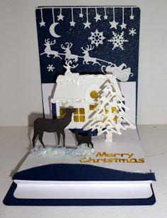 Tarjeta de Navidad de elementos emergentes