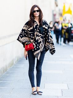 How to Wear a Poncho Like a Pro | WhoWhatWear.com