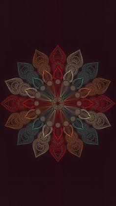 Top 😍🤩 wallpapers and sreensaver {Mandala Flower} Cellphone Wallpaper, Galaxy Wallpaper, Flower Wallpaper, Cool Wallpaper, Wallpaper Backgrounds, Iphone Wallpaper, Mandala Art, Flower Mandala, Mandala Design