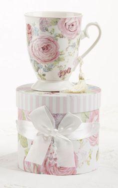 $12.99  Gift Boxed Mug - Peony