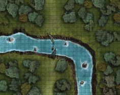 A bend in the river Fantasy City, Fantasy Rpg, Fantasy World, City Landscape, Fantasy Landscape, Rpg Pathfinder, Forest Map, Forest River, Fantasy Map Maker