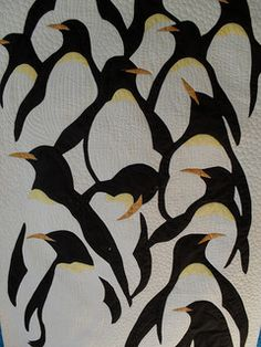 Jessica quilting Studio 2009 by jessie Mini Quilts, Baby Quilts, Quilting Projects, Quilting Designs, Penguin Art, Bird Quilt, Quilt Modernen, Animal Quilts, Guache