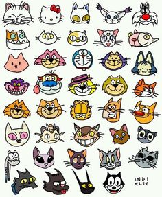 Beautiful and cute looking Cartoon Cats.Here is a list of popular Cartoon Cat Entertainers. Funny Cartoon Pictures, Cartoon Photo, I Love Cats, Cute Cats, Funny Cats, Famous Cartoons, Cool Cartoons, Retro Cartoons, Cat Character