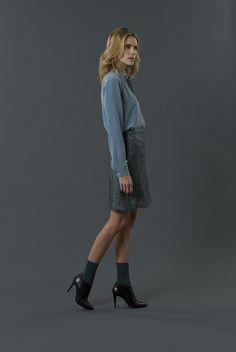 shirt gipsy skirt klimt FW 15-16 collection by QL2 www.quelle2.it #fashion, #women, #apparel