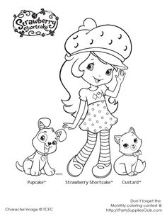 strawberry shortcake colouring page