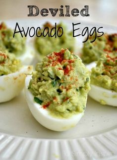 These deviled avocado eggs are an amazing healthy alternative to traditional deviled eggs.  | http://wwwToSimplyInspire.com