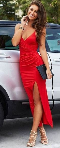 Red Maxi Dress Source
