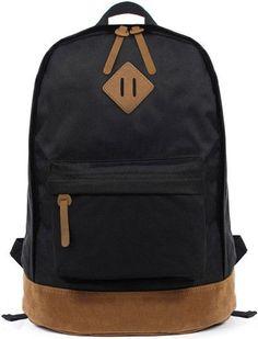 Ecocity black mochila Simple Designer Women Men's Backpacks Men bag backpack School bags For Teenagers Travel backpack